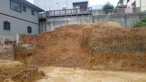 造成工事、地盤改良工事の様子