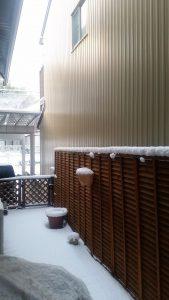 次の日曜日は、案の定雪景色