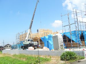 建て方の工事