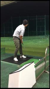 ゴルフの練習に行ってきました。