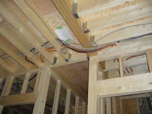 設備配管、電気配線、配管も完了しました。