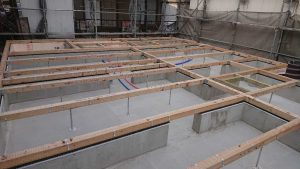 床組みの工事