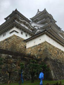 出てすぐの姫路城。