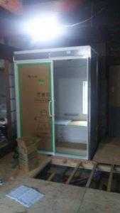 浴室・洗面・脱衣・トイレとの間仕切り壁施工を  して、部屋構成は完了となります。