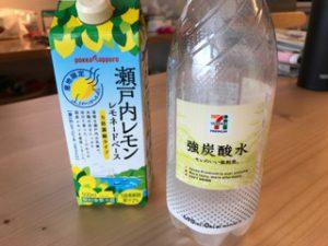 我が家では、『強炭酸水』とレモネードがブームです。
