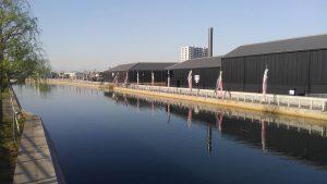 半田運河沿いの鯉のぼり