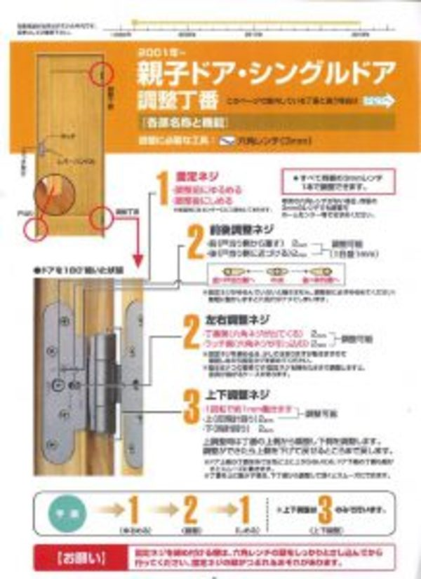 室内建具調整方法